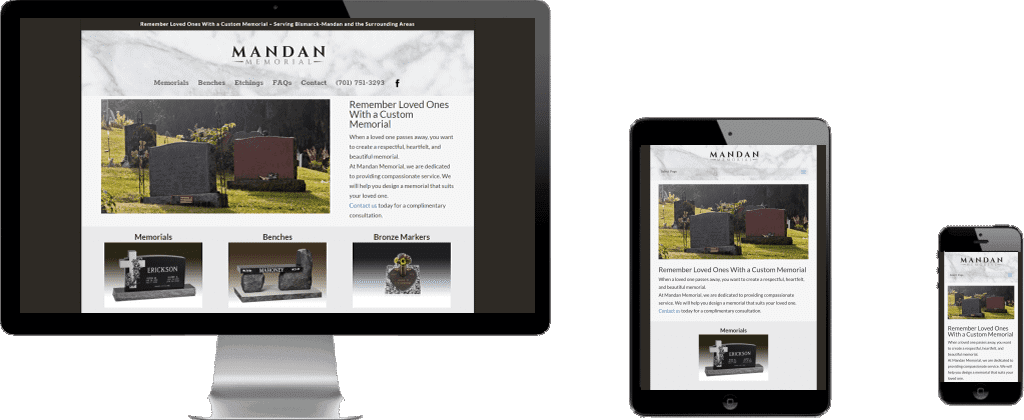 Website Launch – Mandan Memorial